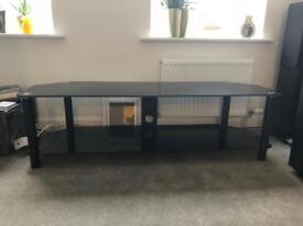 "60"" glass tv stand"