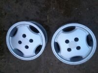 Citroen AX gti speed line alloys x2! Very rare!!