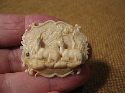 ▀█▀ ██ █▄ █▄ uralte Brosche aus edlem Material -- um 1800 --