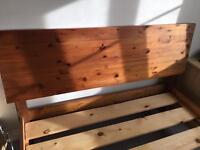 Warren Evans wooden double pine bed frame stained in teak