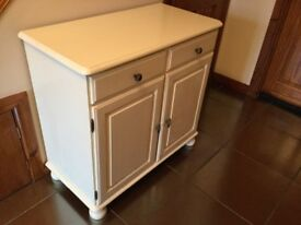 Ivory gloss painted cabinet