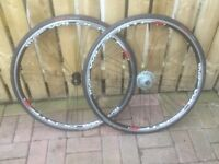 A PAIR OF 700c RACE WHEELS, FOR SALE.