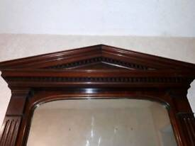 Vintage Large Mahogany Mirror