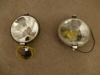 Vintage spot and fog lamps