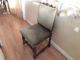 Barley twist antique chair