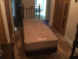 2ft 6ins single divan bed