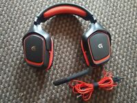 Headset Logitech Black/Red G230 Stereo PC Gaming Headset with Mic