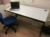 White Rectangular Office Desks