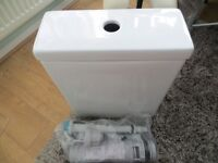 Toilet cistern (close coupled) with all insides included, boxed.