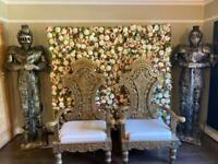 FLOWER WALL & THRONE CHAIR HIRE
