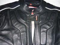 "Black Motorbike Jacket - Hein Gericke, 36"" Chest, AS NEW !!"