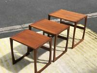 Retro Teak Wood Nest of Tables (@07752751518)