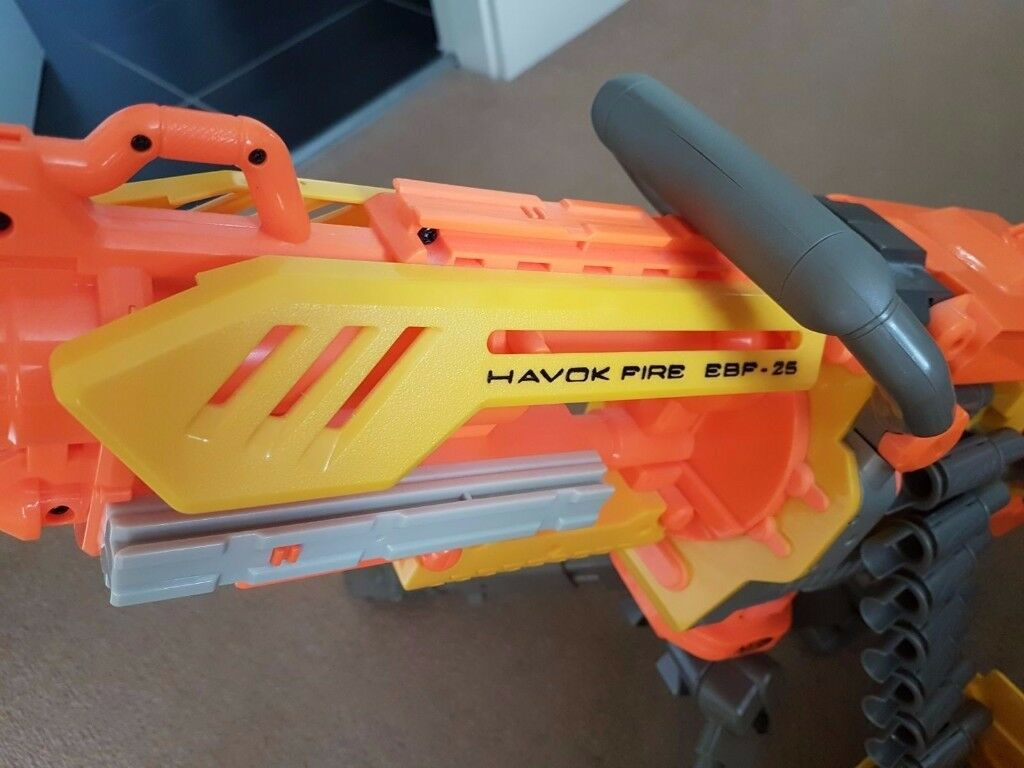 Nerf Havok Fire Machine Gun - Fully working