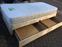 Single divan bed with drawers-£40 delivered