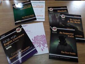 GCSE ENGLISH AQA REVISION GUIDES BUNDLE