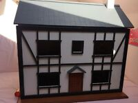 wooden doll house,