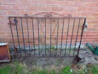 One Steel Gate, with hinges, 60 Inch wide x 40 Inch high.