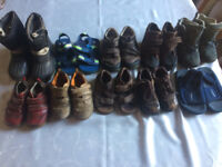 Bundle of good quality boys' shoes and boots for aged 1-5 (sizes 5-9)
