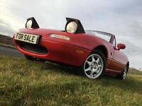 MAZDA MX-5 MK1 1.8iS SPORT MX5 NA CLASSIC RED 88,000 MILES FSH 12 MONTHS MOT