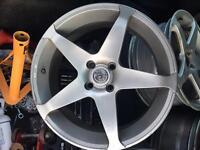 """4x100 17"""" alloys vauxhall Volkswagen Renault no tyres"""