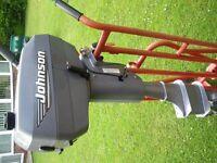 Outboard engine johnson 4 hp twin cylinder longshaft 2 stroke