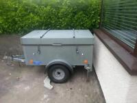 Galvanised camping trailer