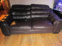 3 2 1 soft leather suite great condition £250 0n0 price drop