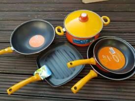 Frying, set pots, kettle