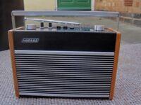2 x VINTAGE 1970's HACKER RP38A FM/LW/MW TRANSISTOR RADIO (COLLECT LE27QT)
