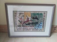 Framed Picture Egyptian Hanging Wall Art (Fantastic Condition)