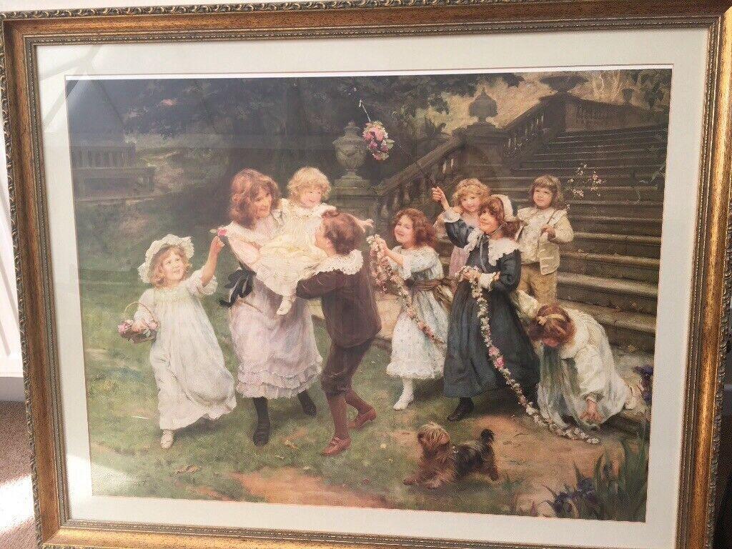Elsley Baby/'s Birthday by Arthur J Art Print of Vintage Art