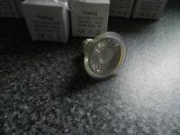 LED GU10 downlighter light bulbs 2.5 watts warm white