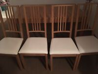 Ikea Bjursta extendable table and 4 Borje chairs - excellent condition