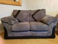EX DFS Steel Grey 2 Seater Sofa and 3 Seater Sofa Bed