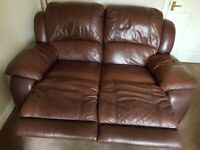 Leather sofa reclining