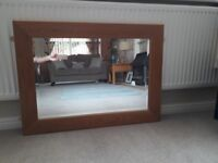 genuine oak framed mirror in immaculate condition
