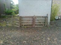 Solid oak garden gates