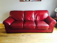 Reid's red leather suite