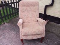 Solid Fabric Armchair Delivery Available £15