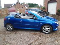 PEUGEOT 206CC 1.6 LOVELY CONDITION