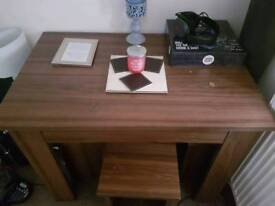 Brown Table and 4 Stools
