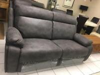 Grey leather sofa new in