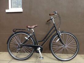 NEW Dutch Style Classic Ladies Loop Frame Town Bike Retro Black City Bicycle 7 Speed