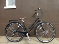 NEW Dutch Style Classic Ladies Loop Frame Town Bike Retro Black City Bicycle 7 Speed