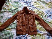 ladies leather look jacket size XS