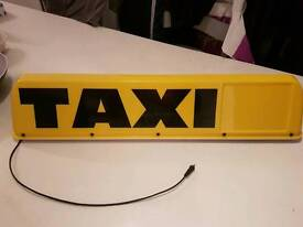 New regulation Taxi sign