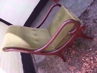 Chairs x 2 Parker Knoll 1 straight back 1 lounger good condition delivery available £10