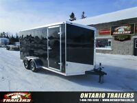"2015 Stealth Trailers Limited edition 7 x 16 + 30"" V nose / blac"