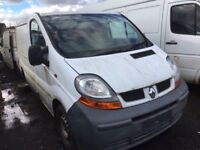 Renault trafic 1.9 diesel spare parts 2004 bumper bonnet wing light radiator