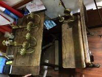 Antique 1924 school desk/chair all in one
